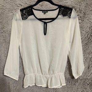S white chiffon blouse